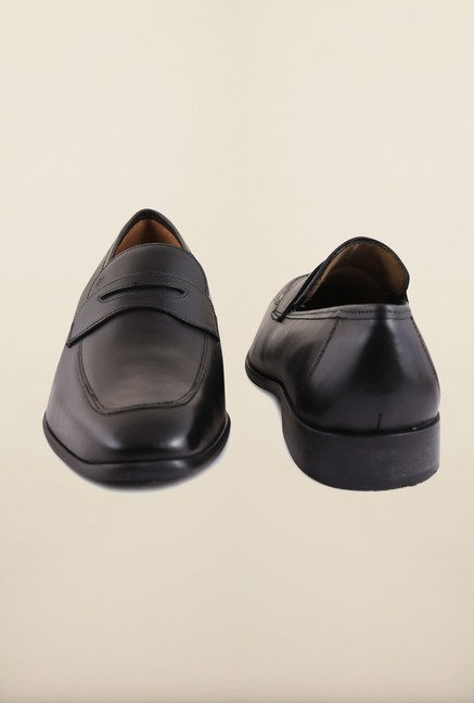 Arrow Black Leather Slip-Ons Formal Shoes