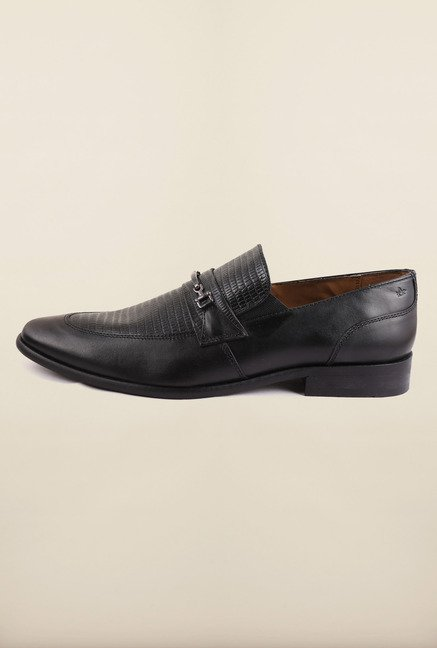 Arrow Black Slip-Ons Formal Shoes