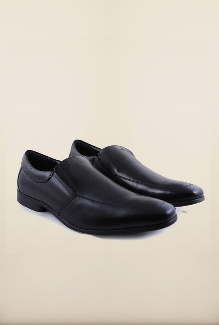 Arrow Black Leather Formal Shoes
