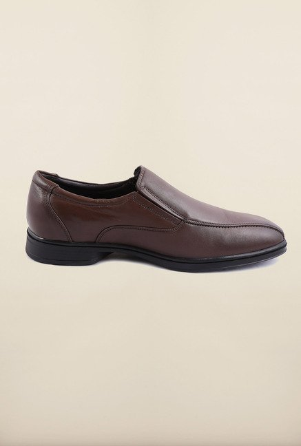 Arrow Brown Leather Slip-Ons Formal Shoes