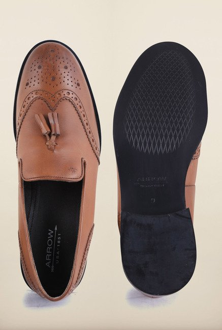 Arrow Brown Leather Formal Shoes