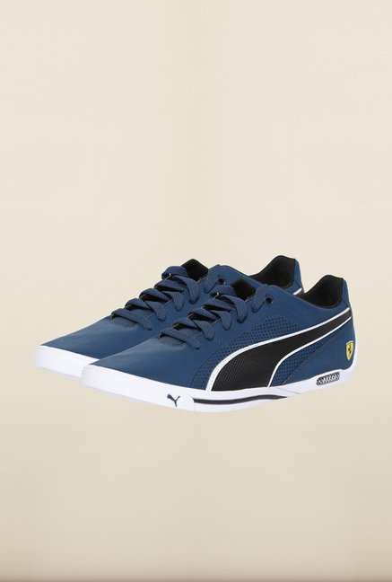 Puma Ferrari Blue Wing Teal & Black Sneakers