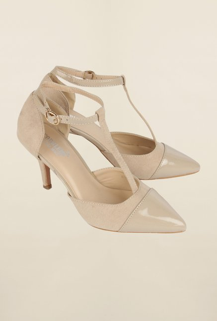 Cobblerz Beige Stiletto Sandals