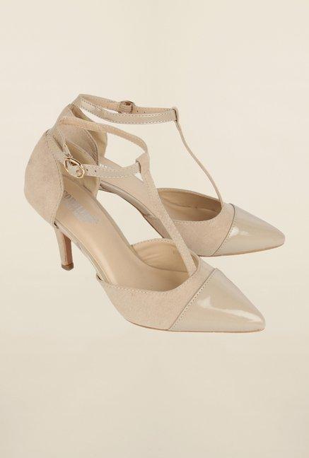 Cobblerz Beige Stiletto Sandals