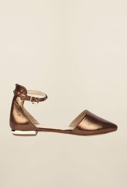 Cobblerz Bronze Flat Sandals