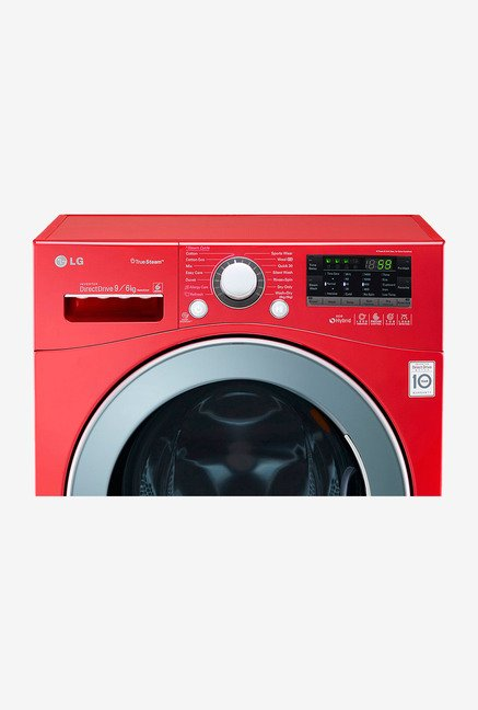 LG F14A8RDS29 9/6 kg Front Loading Washer Dryer (Apple Red)