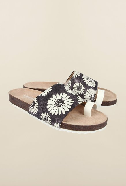 Cobblerz Black Flat Sandals