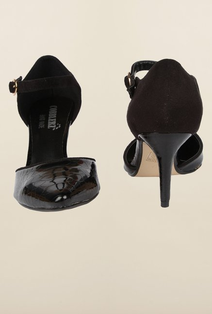 Cobblerz Black Stiletto Sandals