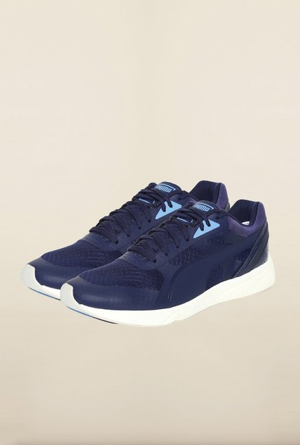 Puma Navy & White Sneakers