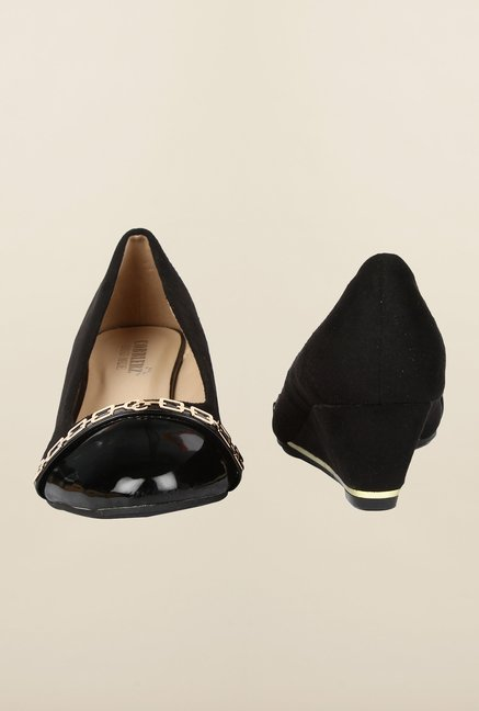 Cobblerz Black Wedge Shoes