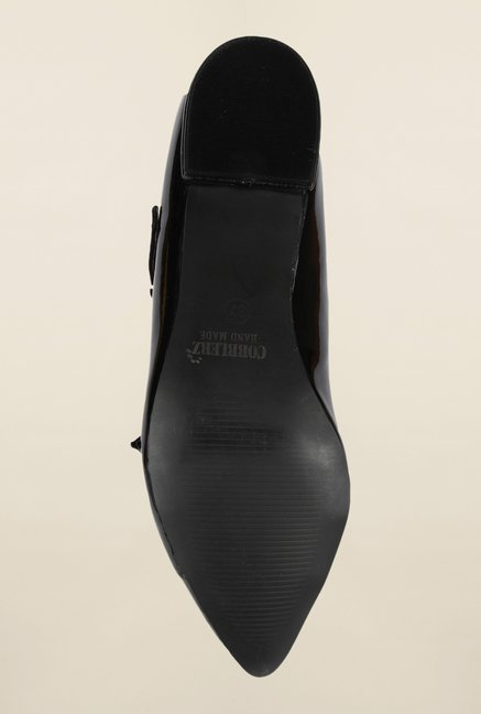 Cobblerz Black Slip-On Shoes