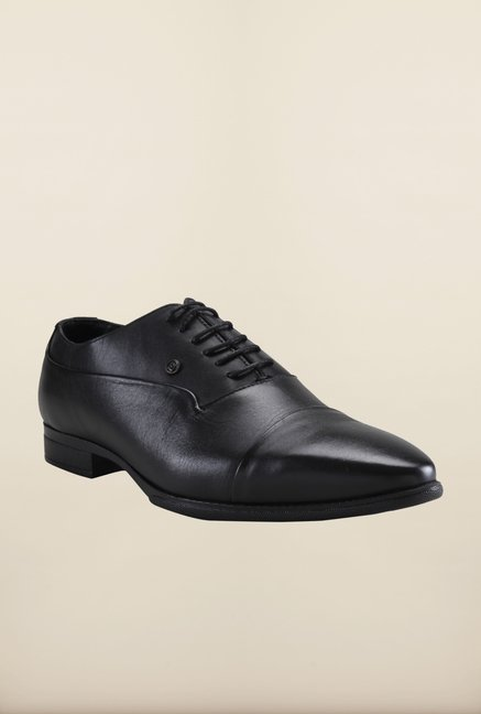 Franco Leone Black Oxford Shoes