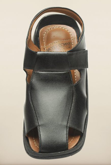 Franco Leone Black Fisherman Sandals
