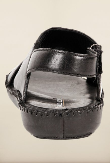 Franco Leone Black Back Strap Sandals