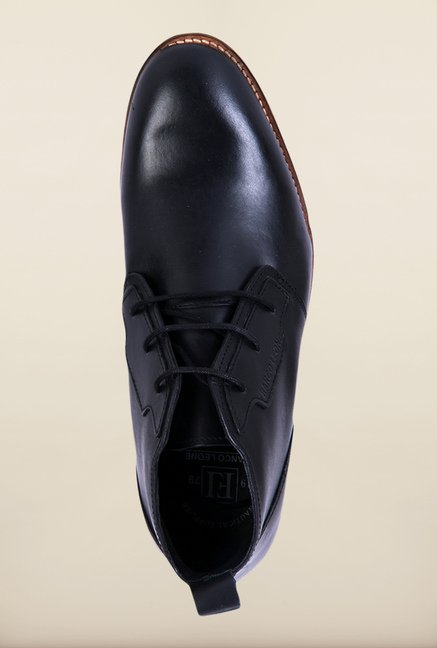 Franco Leone Black Derby Shoes