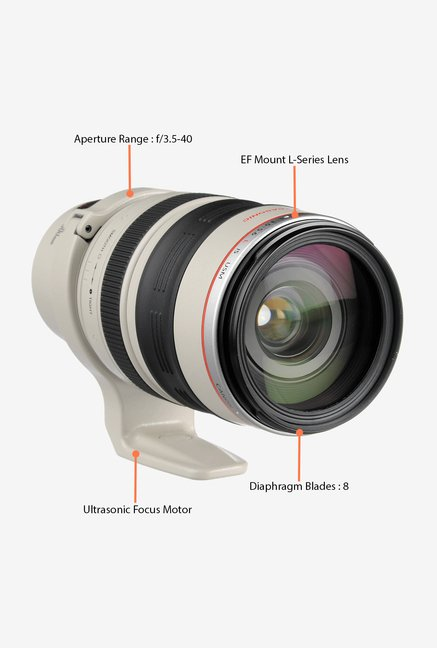 Canon EF 28-300mmf/3.5 - 5.6L IS USM Lens (White and Black)
