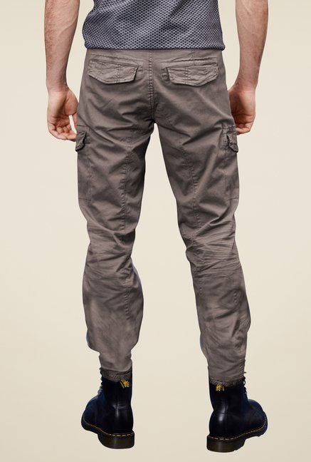 s.Oliver Grey Solid Cargos