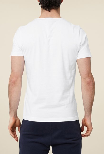 s.Oliver White Solid T Shirt