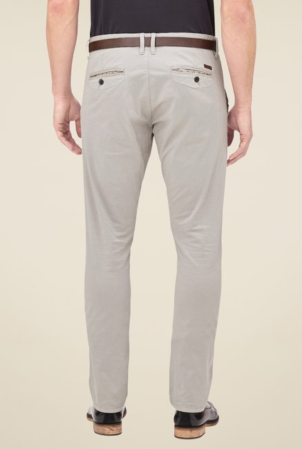 s.Oliver Grey Solid Chinos