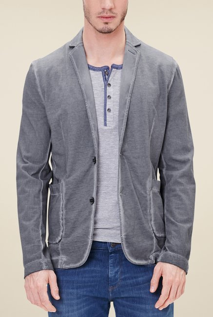 check out 66362 d90a5 Buy s.Oliver Grey Solid Sweatshirt Jacket Online at best ...