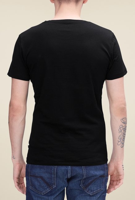s.Oliver Black Printed T Shirt