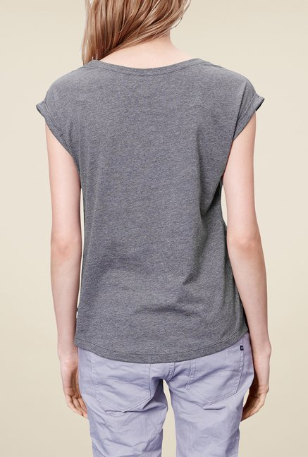 s.Oliver Grey Graphic Print T Shirt