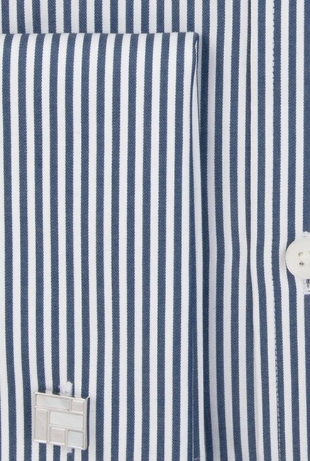 Hawes & Curtis Navy & White Stripes Shirt