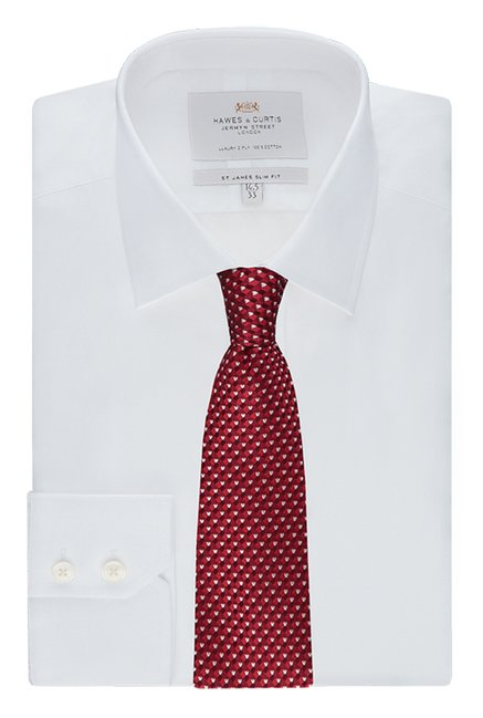 Hawes & Curtis White Solid Shirt
