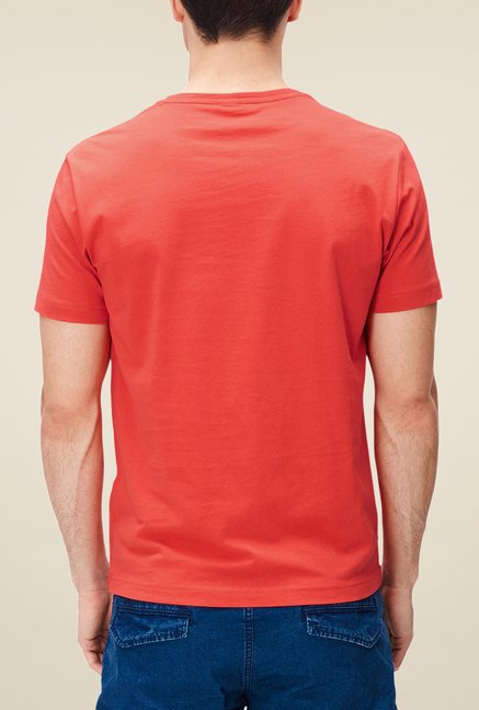 s.Oliver Red Printed T Shirt