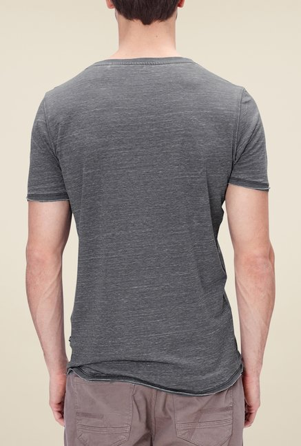 s.Oliver Grey Printed T Shirt
