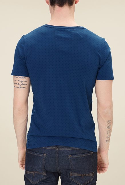 s.Oliver Blue Printed T Shirt