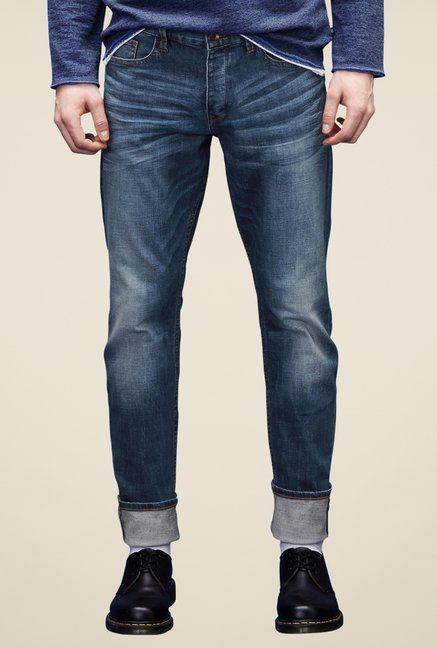 s.Oliver Blue Lightly Washed Jeans