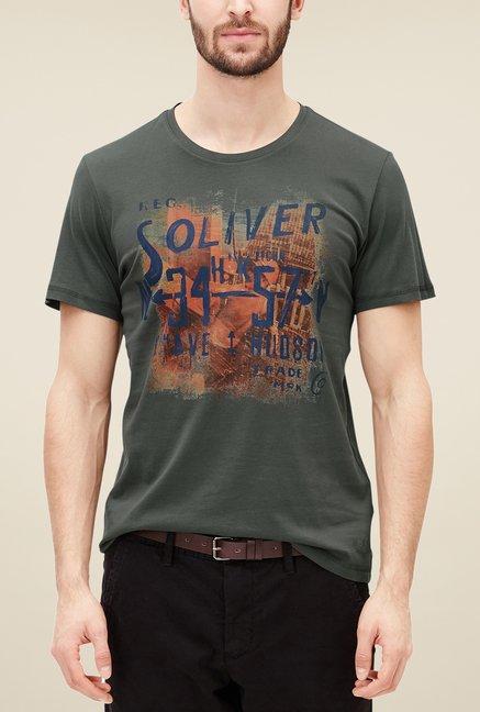 online retailer 120cf 9bb1f Buy s.Oliver Black Printed T Shirt Online at best price at ...