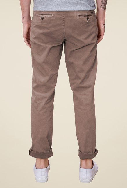 s.Oliver Khaki Solid Chinos
