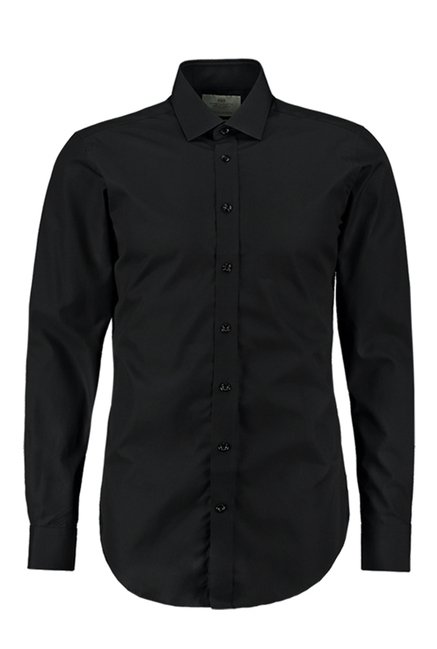 Hawes & Curtis Black Solid Shirt