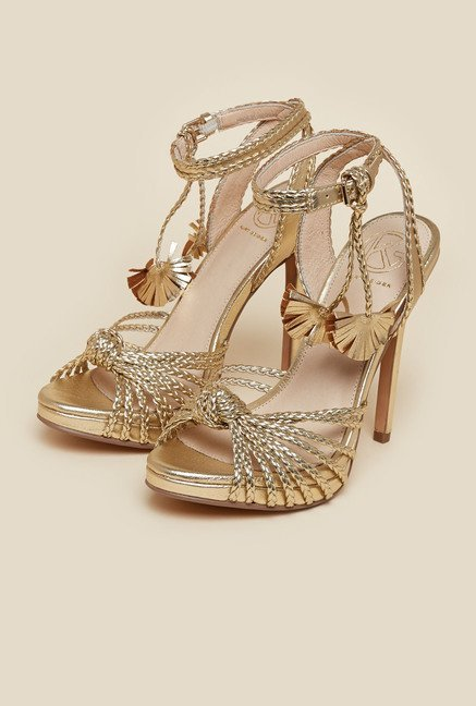 Kurt Geiger Gold Hoax Sandals