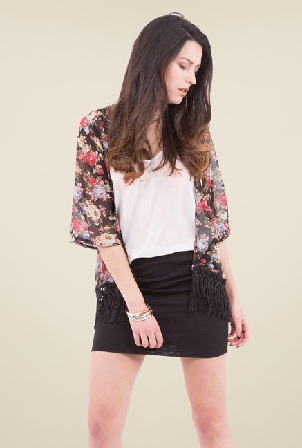 MIM Multicolor Floral Printed Jacket