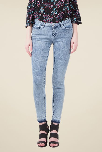 MIM Blue Acid Wash Skinny Fit Jeans