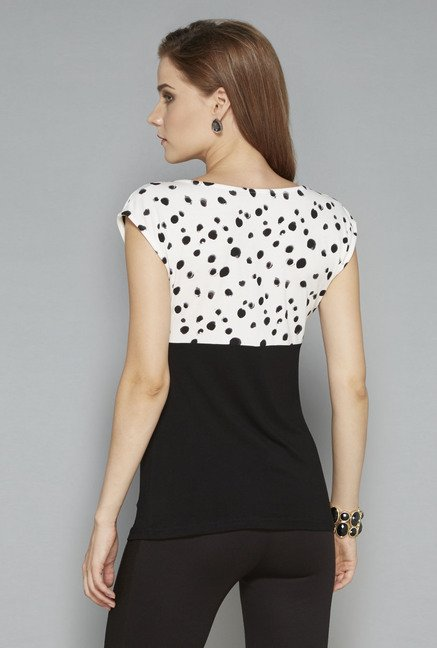 Wardrobe Black Printed Blouse