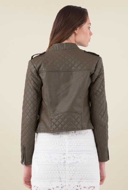 MIM Brown Quilted Jacket
