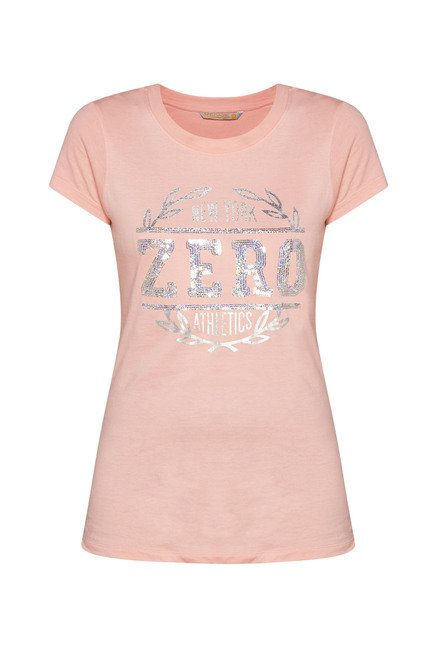 Westsport Womens Pink Printed T Shirt
