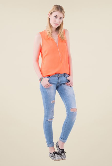 MIM Orange Solid Top