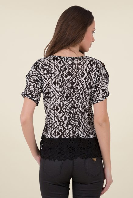 MIM Black & White Printed Top