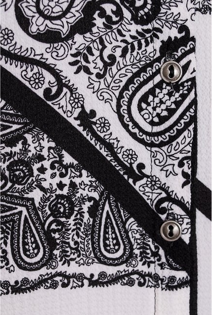 Quiz Black & White Printed Shirt
