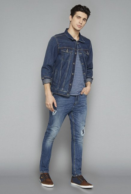 Nuon Blue Slim Fit Denim Jacket