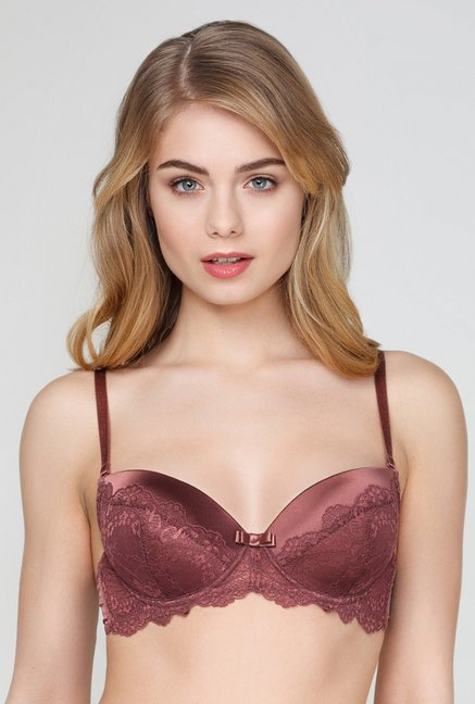Infinity Lingerie Laussa Brown Lace Bra
