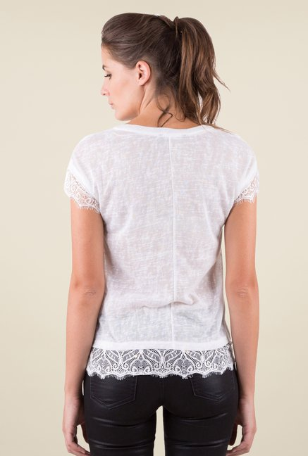 MIM White Printed Top