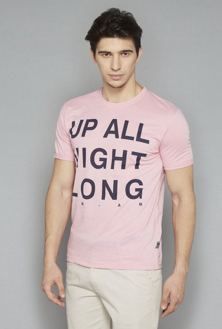 Nuon Pink Printed T Shirt