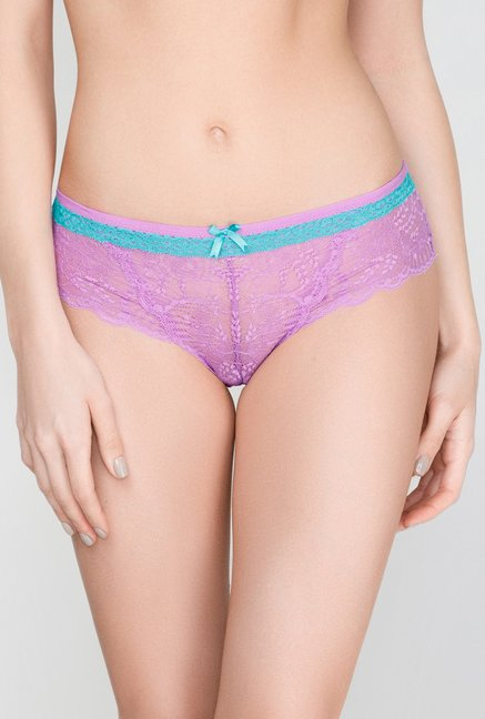 Infinity Lingerie Monsina Purple Lace Boy Shorts