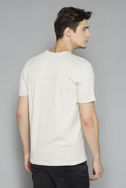 Nuon Off White Printed T Shirt